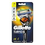 Gillette Fusion 5 ProGlide Mens Razor, Handle and 2 Blade Refills, 1 Ea