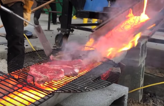 Grilling Steak with Lava