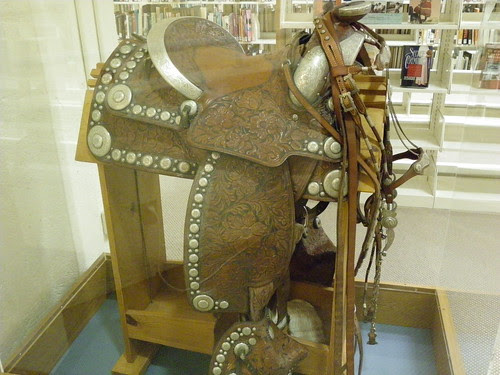 Amazing saddle in the local studies section - Civic Centre Library, Scottsdale