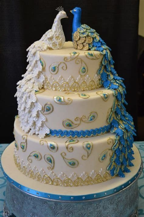 30 Beautiful Wedding Cakes   Wedding cakes   Peacock