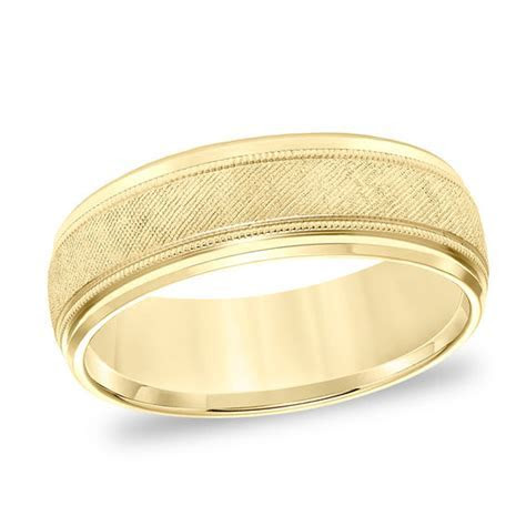 Men's 7.0mm Comfort Fit Florentine Milgrain Wedding Band
