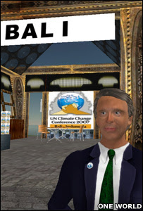 Screen grab of the Bali conference in Second Life