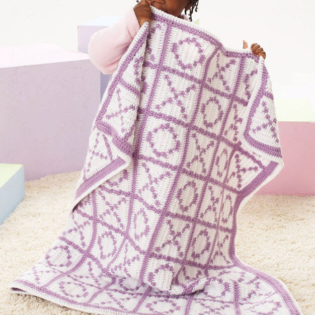 Caron Hugs and Kisses Blanket