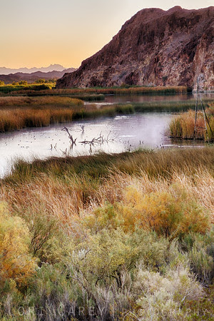 Early morning steam on Taylor Lake, Picacho State Recreation Area, California