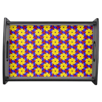 Beautiful Pinwheel-like Design on Serving Tray