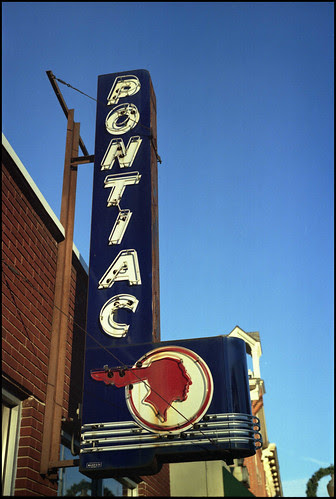 Old Pontiac sign, Chelsea