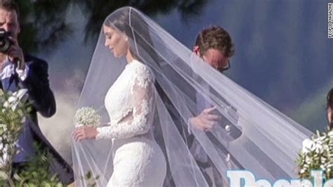 See Kim Kardashian in her wedding dress   CNN Video