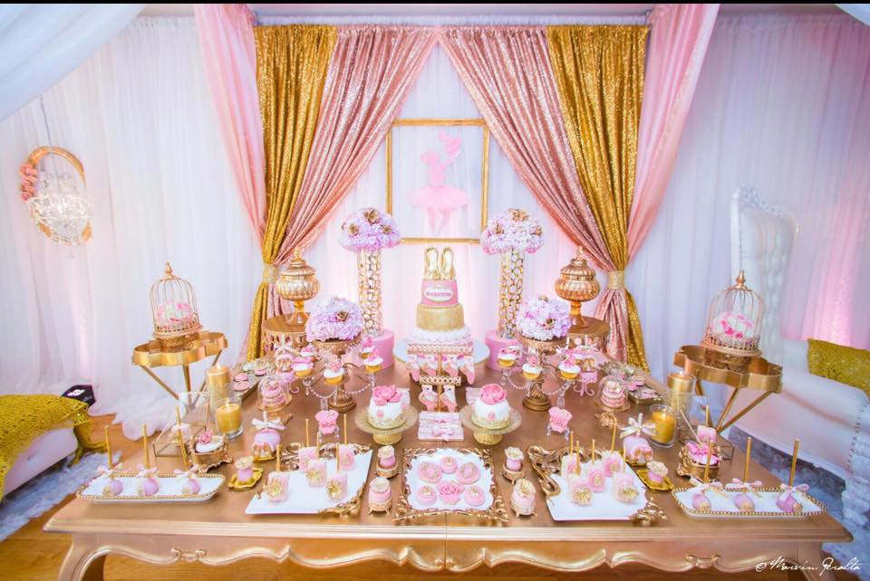 Karas Party Ideas Pink Glitter Gold Baby Shower