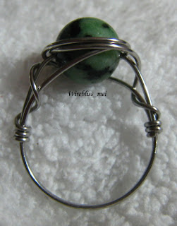 wire wrapped ring with green stone (no name)
