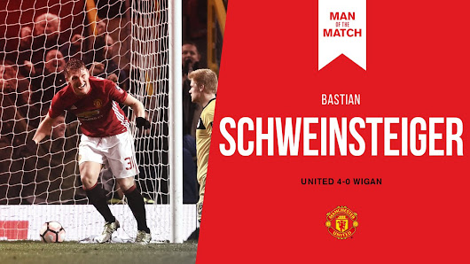"Manchester United auf Twitter: ""An assist, a goal and an all-round top performance - congratulations to today's #MUFC Man of the Match, @BSchweinsteiger! """