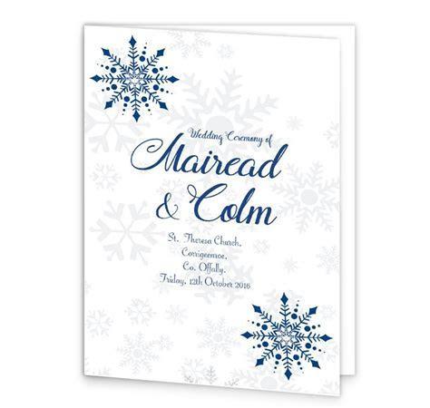 Snowflake Wedding Mass Booklet Cover   Loving Invitations