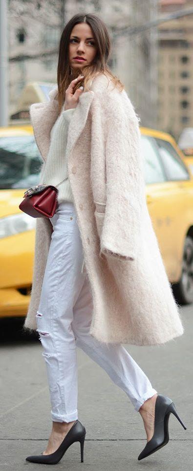 H&M Pastel Pink Coat by Fashionvibe