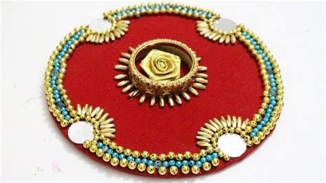 How to Make Handmade Thali For Pooja /Aarti and Wedding