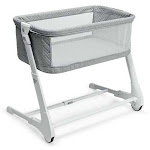 Baby Height Adjustable Bassinet with Washable Mattress-Gray