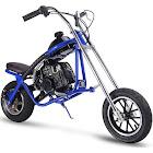 MotoTec 49cc Gas Mini Chopper Blue, Size: Large