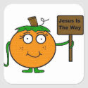 Pumpkin Jesus Is The Way Stickers sticker