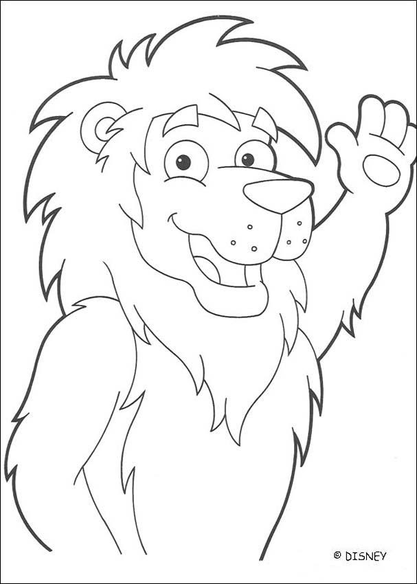 Dibujos Para Colorear El León Malabarista 2 Eshellokidscom