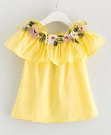 Pre Order - Awabox Floral Top - Yellow