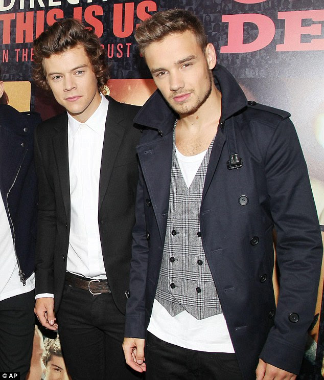 Supportive: Liam Payne defended One Direction bandmate Harry Styles against the latter's ex-girlfriend Taylor Swift