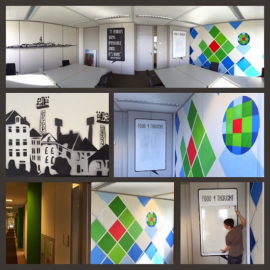 4 Wolters Kluwer Muurschilderingen | Egbert.EGD | Stencil Art | Tape Art | Deventer