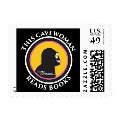 $0.49 Postage Stamps Smart Cavewoman Reads Books