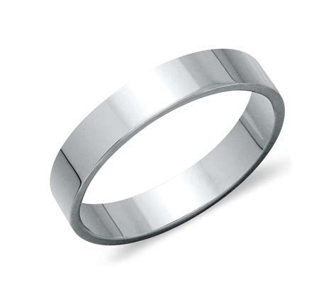 Flat Wedding Ring in Platinum (4mm)   Blue Nile