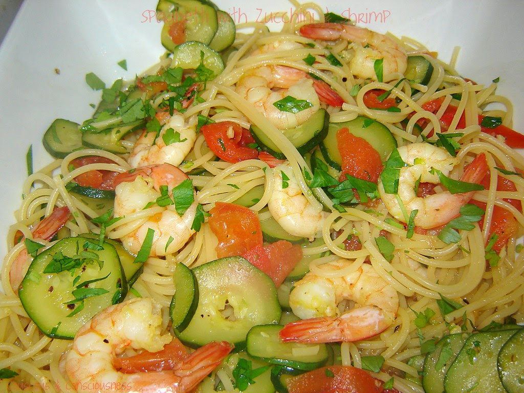 Spaghetti with Zucchini & Shrimp 2, edited