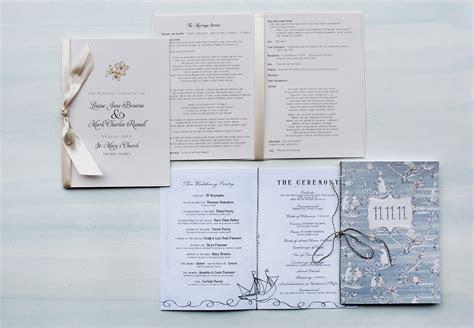Wedding Programs   Momental DesignsMomental Designs
