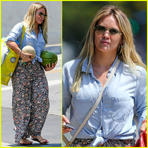 Hilary Duff Shops for Melons Wearing Tropical-Themed Pants