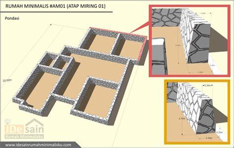 desain pondasi rumah 4 kamar   desain rumah minimalis