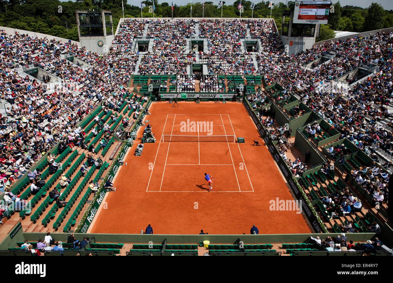 Paris, France. 27th May, 2015. Tennis, Roland Garros ...