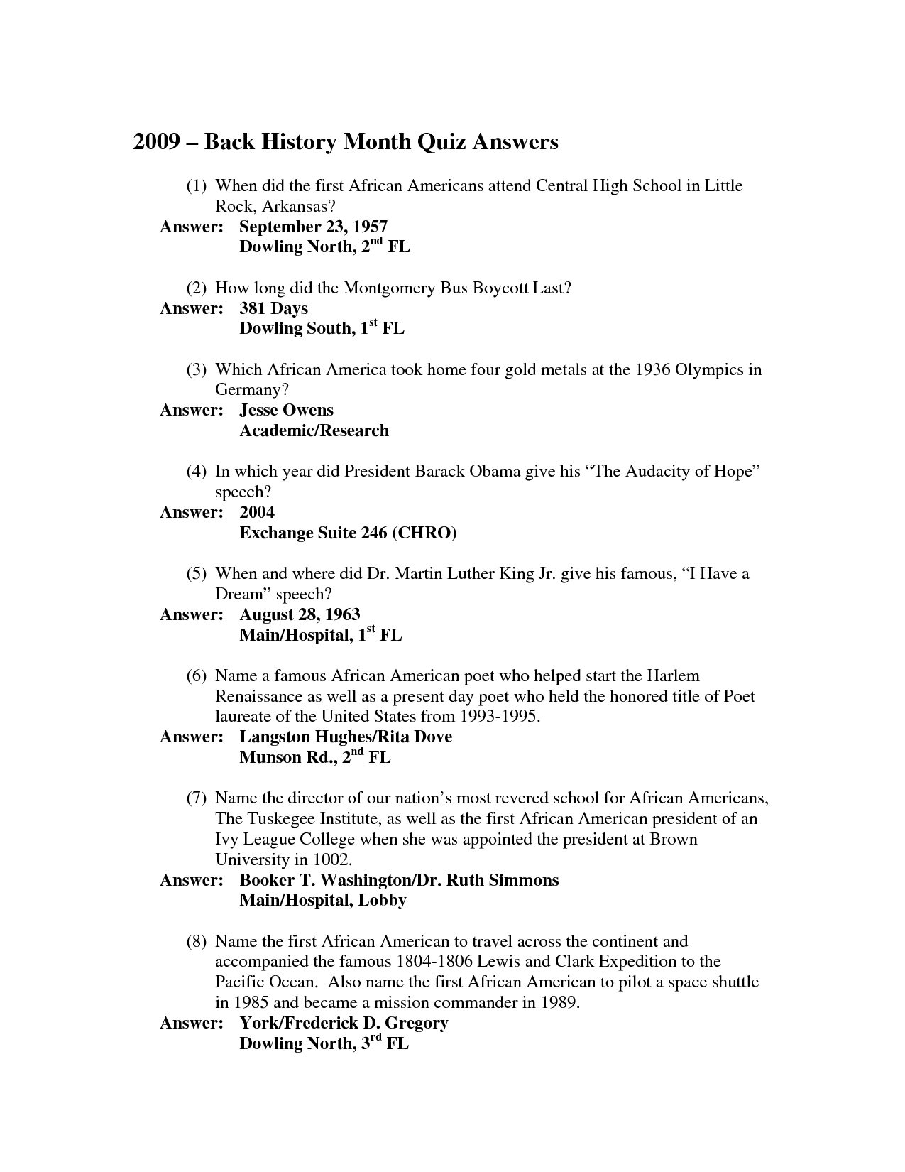 free printable black history trivia questions and answers ...
