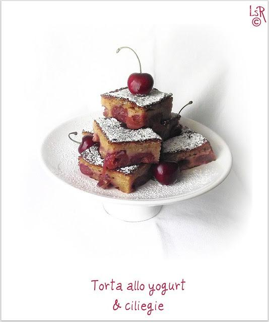 Torta ciliegie e yogurt