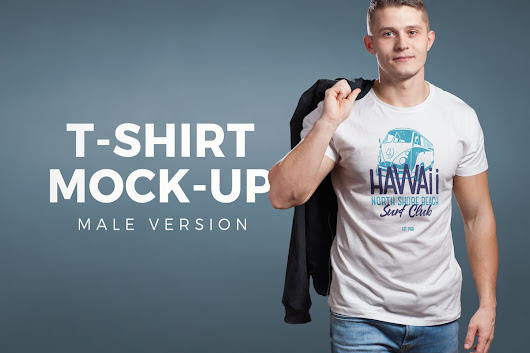 Crew Neck T-shirt Mock-up Male Version by vasaki on Envato Elements
