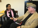 Malalai Joya meeting with Robert Dreyfuss