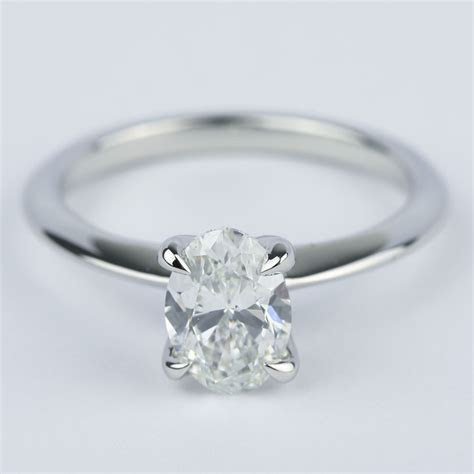 Knife Edge Oval Diamond Engagement Ring (1.20 ct.)