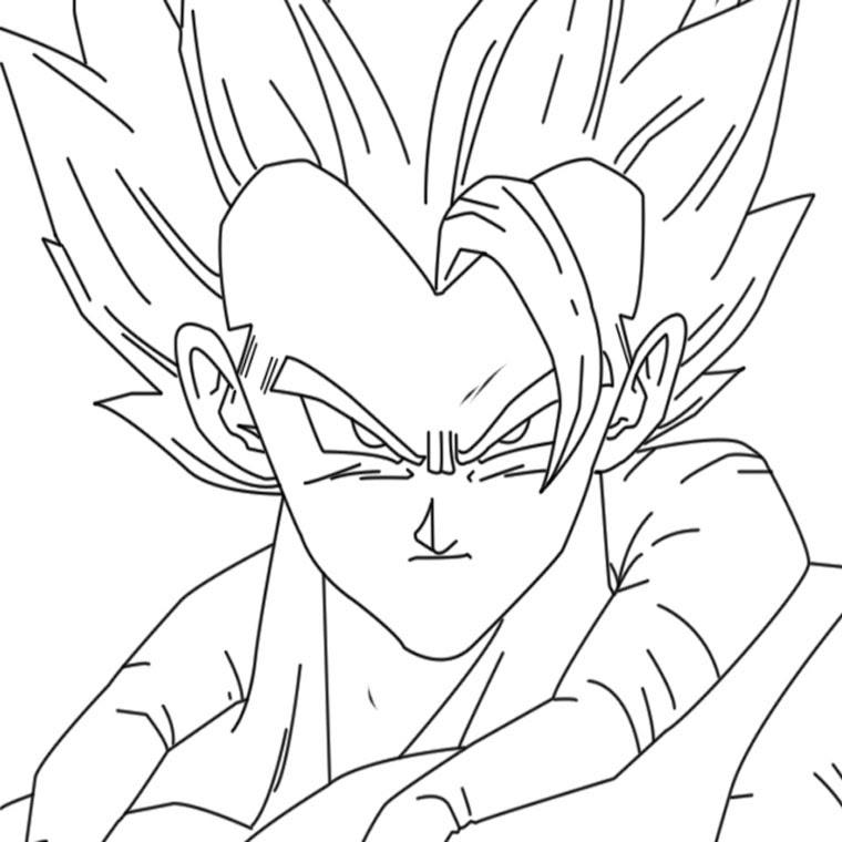 Coloriage Dragon Ball Z Sangoku Ancenscp