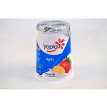 Yoplait Light Strawberry Banana Smoothie Yogurt, 6 Ounce - 12 per case.