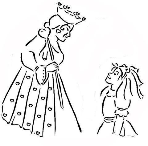 Disegno Di La Regina Di Cuori Di Alice Nel Paese Delle Meraviglie Da