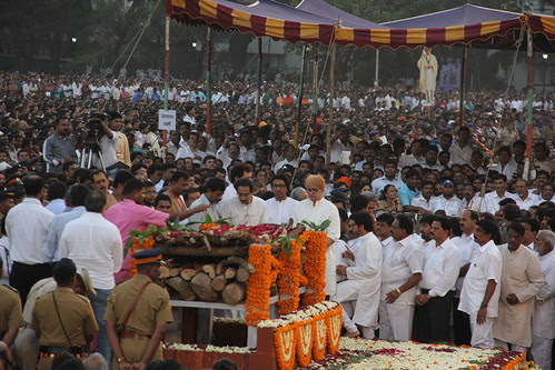 Last Rites Mr Balasaheb Thackeray Shivaji Park by firoze shakir photographerno1