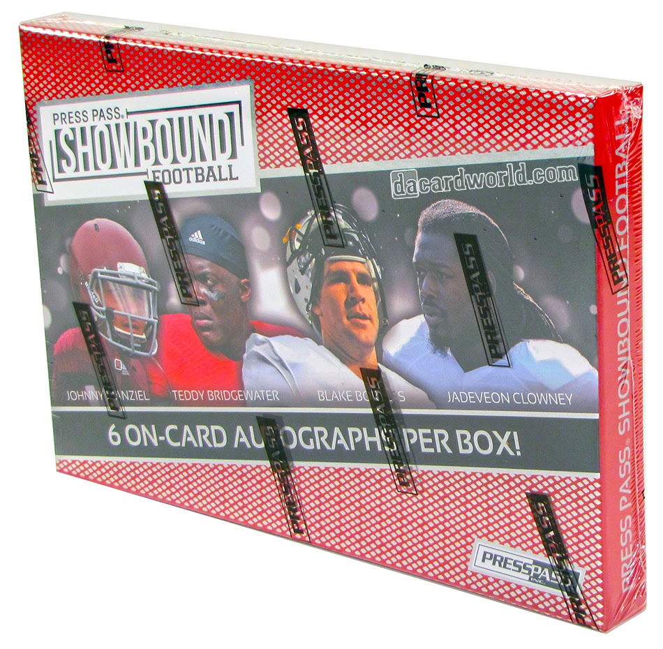 2014 Press Pass Showbound Football Hobby Box  DA Card World