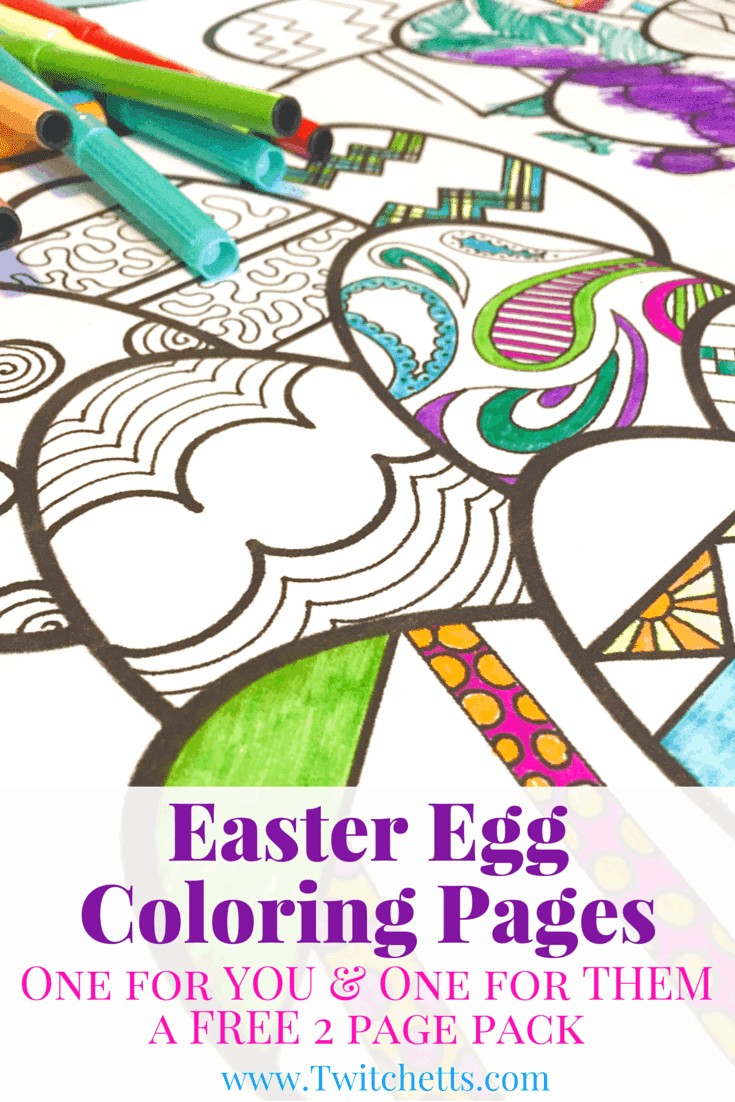 Easter Egg Coloring Pages - Easter Printables - Twitchetts
