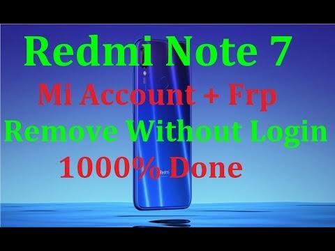 Redmi Note 7 (Lavender) mi account unlock file | Redmi note 7 mi account frp unlock by softichnic