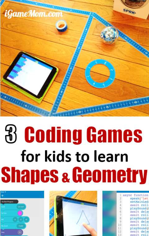 3 Coding Games to Learn Shapes and Geometry