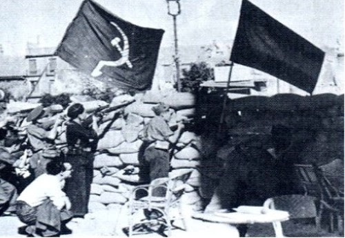 Milicianos comunistas en Zocodover