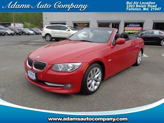 Used 2011 BMW 3-Series 328i Convertible for Sale in Bel Air MD 21047 Adams Auto Company