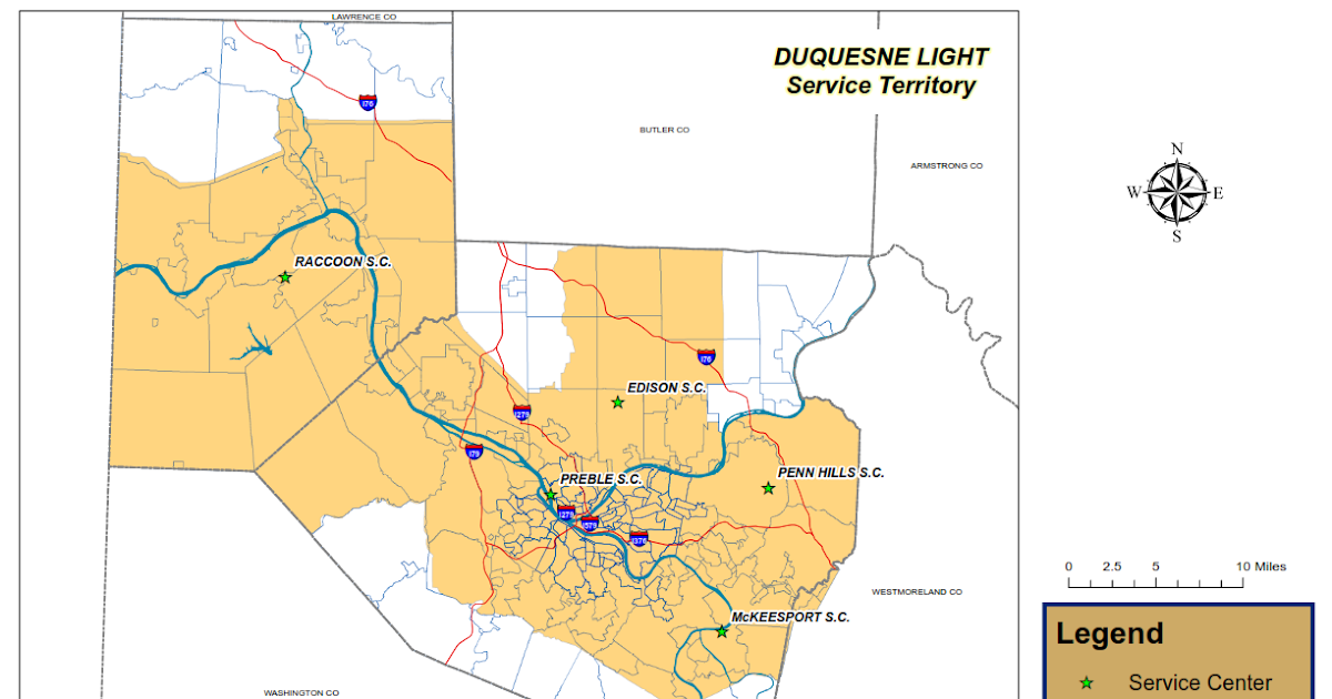 Duquesne Light Power Outage Map | Zip Code Map on