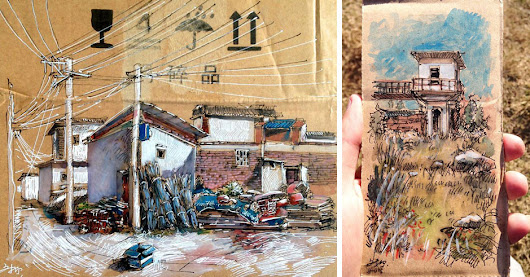 Artist Draws on Pieces of Trash and Leaves Them for People to Find