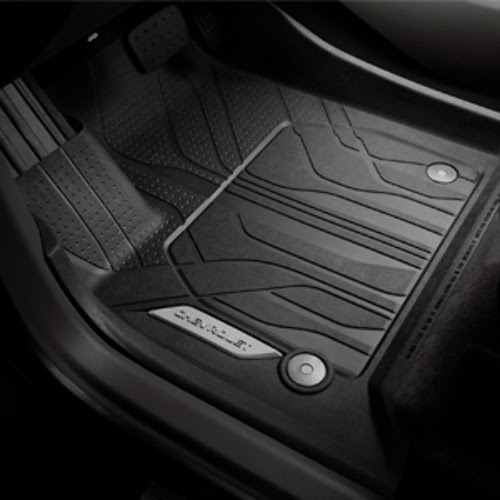 2018 Chevy Traverse Front All-Weather Black Rubber Floor ...