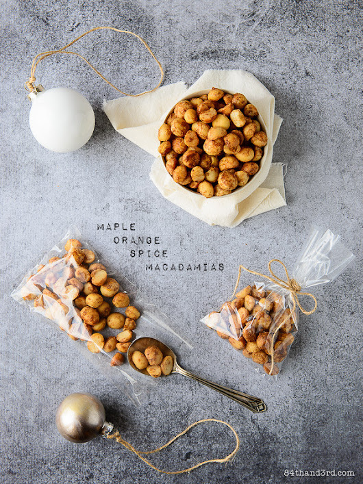 84th&3rd |   Maple Orange Spice Macadamia Nuts
